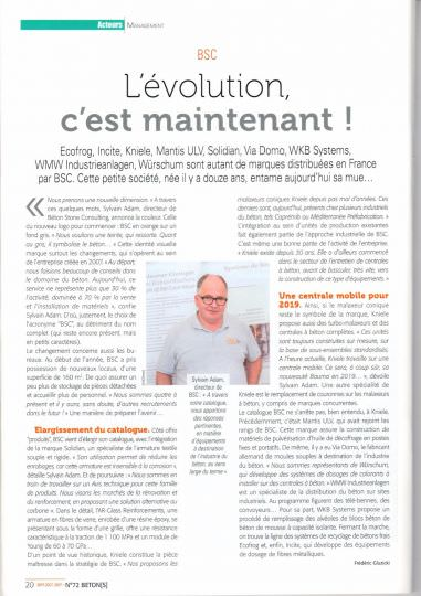 Article de Presse BETON[S] n°72